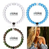 Wholesale New Arrival Silicone Transparent bracelets Black and White Beads LOKAI Bracelet Mud Blue Pink Fashion Bangle for Women