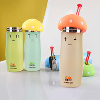 Wholesale Hot Sales Winter Mushroom Thermos Cup Stainless Steel Thermoses Water Bottles Vacuum Flask Students Insulation Cup JD0044 kevinstyle