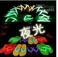 Wholesale LUMINOUS lights flash shine slippers sandals shoes Luminous Summer Flip Flop Slipper Beach Sandals