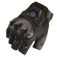 armour glove - New Scoyco Motor Sports Armour Gloves Motorcycle Fingerless Summer Stytle Mittens Black M XL