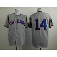 bank uniforms - Cubs Ernie Banks Throwback Grey Baseball Jerseys Well Stitch Jerseys New Style Baseball Jerseys High Quality Baseball Uniform