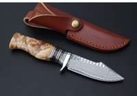 Wholesale Hot Sale Promotion Collection Damascus Fixed Blade Knife Gift Knives Outdoor EDC Tactical Knife Camping Knives Tools Survival Gift Toools
