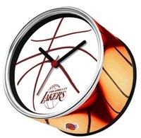 antique tin frames - Laker Sport Basketball Magnetic Wall Clock Tin Photo Frame Clock Desk Clock Kitchen Magnetic Table Clocks On Back