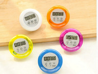 alarm tools - 50pcs Novelty Digital Kitchen Tools Count Down Up LCD Timer Alarm Clock Time Setting Device Round Magnetic Digital Kitchen Timer