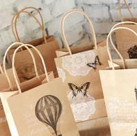 Recyclable bag handles craft - Elegant Gift bag Craft Paper Gift Bag Candy Food Bags handle paper gift bags packaging mm