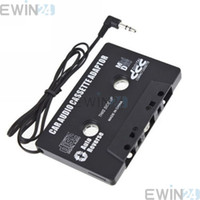 Cheap Black car tape adapter Best Cassette Player other audio cassette adapter