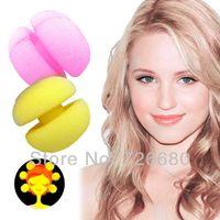 Wholesale Magic Beauty Yellow Soft Sponge Hair Care Foam Balls Hair Curler Rollers