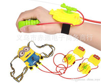Wholesale Minions Water Gun Despicable Me Water Fun Kids Toys Bathing Toys Wrist Spray Gun