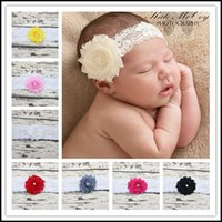 baby head gear - Prettybaby Kids lace head gear with a pearl flower baby elastic hair accessories colors Pt0154