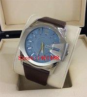 Wholesale New DZ1399 DZ1273 DZ1295 DZ1405 DZ1206 Brown Leather Strap Steel Case Blue Dial Men s Watch DZ1399 Wristwatches original box
