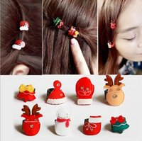 Wholesale High end fashion Mini round buckle hairpin clip resin hairpin creative hair ornaments christmas decotations gift for girl HT56