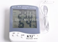 Wholesale 2015 NEW TA218C Digital Humidity and Temperature Meters out door indoor for Household with M Sensor Wire and probe order lt no