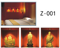 art statue - DIY wall stickers Z statues living room decorative self adhesive stickers D three dimensional simulation