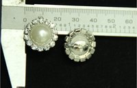 Wholesale mm Rhinestone Button For Hair Flower Wedding Invitation