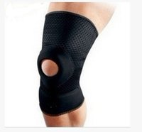 knee support - 1 pair new arrival Patella man Support Strap Brace Pad knee protector sport equipment hole kneepad Safety guard elbow