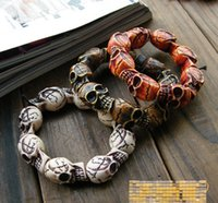 Wholesale free shinpping American men and women of prayer beaded bracelet beaded skull Korean jewelry Shenzhen factory direct spread