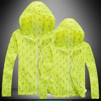 Séchage rapide anti-UV de gros-Outdoor Hommes Femmes étanche Protector Vent Pluie Ultraléger ultra-mince veste de peau Cycling Jersey