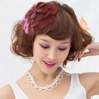 Wholesale The New Fashion Petal Flower Hat Hair Band Headband for Women Hair Accessories Headwear Ornaments