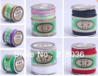 Wholesale Mixed Color Optional Nylon Macrame Cord Premium Braided Chinese knot Cord Wire DIY Jewellery Making mm m M2028