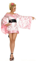 Wholesale Sexy women cosplay Party costumes pretty Pink geisha girl Costume Costume Adult cosplay halloween fantasias costumes for women