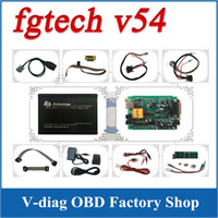 Wholesale 2016 New Release V54 FGTech Galletto Master BDM TriCore OBD Function FG Tech ECU Programmer with Multi langauge CN post