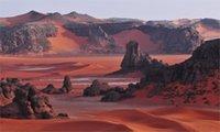 algeria sports - Deserts sahara Algeria dunes rocks mountains red nature landscapes x36 inch art silk poster Wall Decor