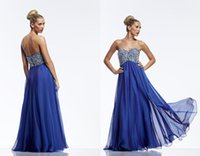 tony bowls dresses - 2015 New Sparkle Crystal Beads Sequins Blue Prom Dresses Sweetheart Beautiful Tony Bowls Evening Gowns Special Occasion Dress Floor length