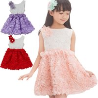 Cheap 2015 Korean children dress girls summer dress Princess dress chiffon roses wholesale children's clothing