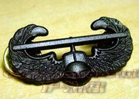 aluminum gliders - 2016 New Arrival Militaire Medailles American Metal Badge Army Usarmy Acu Black Air Assault Glider Metal Skills Chapter Badge