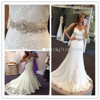 arriva pearl - New Arriva Strapless Strapless A line Crystal Sexy Lace Pearl Belt Wedding Dress Bridal Gown Evening Bride Wedding Dresses