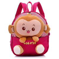 Wholesale Factory Price Cute cartoon monkey plush doll toy kid children backpacks student school bag satchels waitingyou