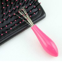 Wholesale Comb Hair Brush Cleaner Cleaning Remover Embedded Plastic Handle Tool