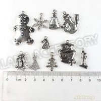 Wholesale ashion Jewelry Charms Christmas Charms Assorted Zinc Alloy Antique Silver Tone Metal Pendant Fit Handcraft DIY