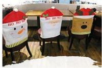 snowman decoration - 6Pcs Chair Back Covers Christmas Decorations Snowman Santa Claus Chair Covers Navidad Adornos Dinner Chair Sets Gift cm