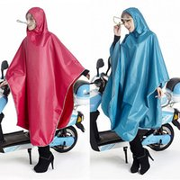 Wholesale Top Sale Women Raincoat Hooded Poncho Lengthen Thickening Electromobile Motorcycle Raincoat Outdoor Waterproof Clothing KY0022