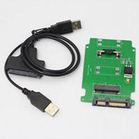 mini sata cable - High Quality USB to SATA cable With Low Price New Brand Mini PCI E mSATA SSD to quot SATA Adapter converter card