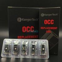 Wholesale Authentic Kanger Subtank Replacement Coils OCC Coils For KangerTech Sub tank E Cigarette Atomizer Sub ohm Vaporizer Organic Cotton Coil