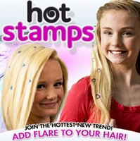 Wholesale to USA Hot Stamps Peace Flowers Hair Glitter Hair Styling ultimate anything but ordinary hair accessory