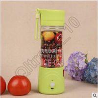 Wholesale 60pcs CCA3540 Creative Rechargeable Juice Cup Mini Fruits Extractor Portable Juice Extractor Mini Extractor Juicer Cup Creative Water Bottle