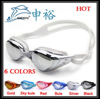 Wholesale Top quality new anti fog anti ultraviolet swimming goggles men and women unisex coating swimming glasses adult goggles free ship