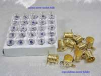 Wholesale E10 BA9S tungsten light screw bulb socket with edison cap holder bubble V A Generation of the little power