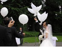 Wholesale White Dove balloons only support hydrogen Conventional Festival Balloons Wedding and Party Decoration