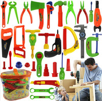 Wholesale 50 Piece Play house toy boy electric maintenance tools Mobile suit children s toolbox simulation DIY tools Unique gift