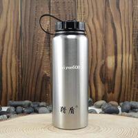 Metal metal water bottle - 1000ml wide mouth water bottle outdoor big capacity sports bottle stainless steel water bottle