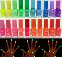Wholesale 1pcs Candy Color colors ml Fluorescent Neon Luminous Nail Polish for Glow in Dark Nail Varnish Nail Ename for Women