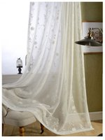 kids fabric cotton - ready made white cotton embroidered sheer curtains for living room voile tulle curtain kids hometextile fabric