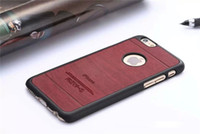 wooden case - For Apple iphone Vintage Matte Wood Wooden Back Cover Case Hard PC Side Frame With Round Hole Clear Logo Battery Housing Skin For iphone6