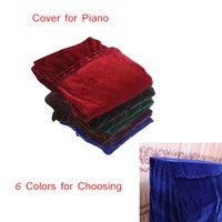 Wholesale Upright Vertical Piano Cover Pleuche Materail Decorated with Macrame Universal Piano Accessories Colors for Choosing