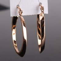 antique gold earings - New Arrival Woman Hoop Earrings k Gold Plated Snap Closure Antique Earing High Quality Jewelry Vintage Big Hoops Earings E408b