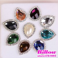 Cheap 2015 Hot sell Resin buttons for rhinestone hair bows embellishments lowers embellishments alloy waterdrop buttoon B1838